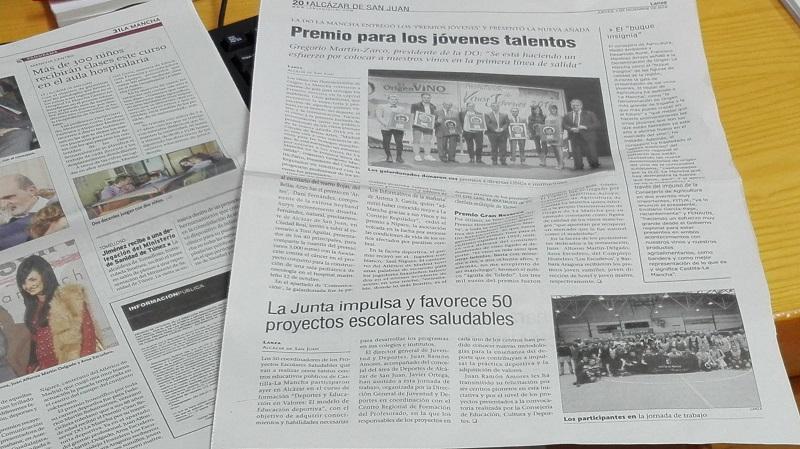 Diario Lanza presentación vinos jóvenes 2016 DO La Mancha