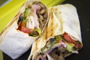 Wrap de ternera en un food truck
