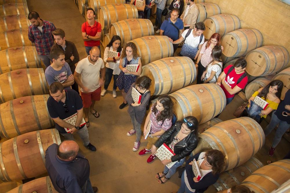 Visita de los alumnos a una bodega DO La Mancha en la edición pasada