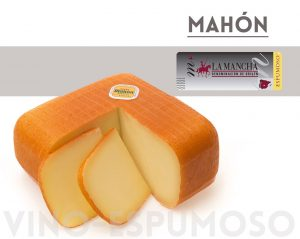 quesos de mahon con espumosos DO La mancha