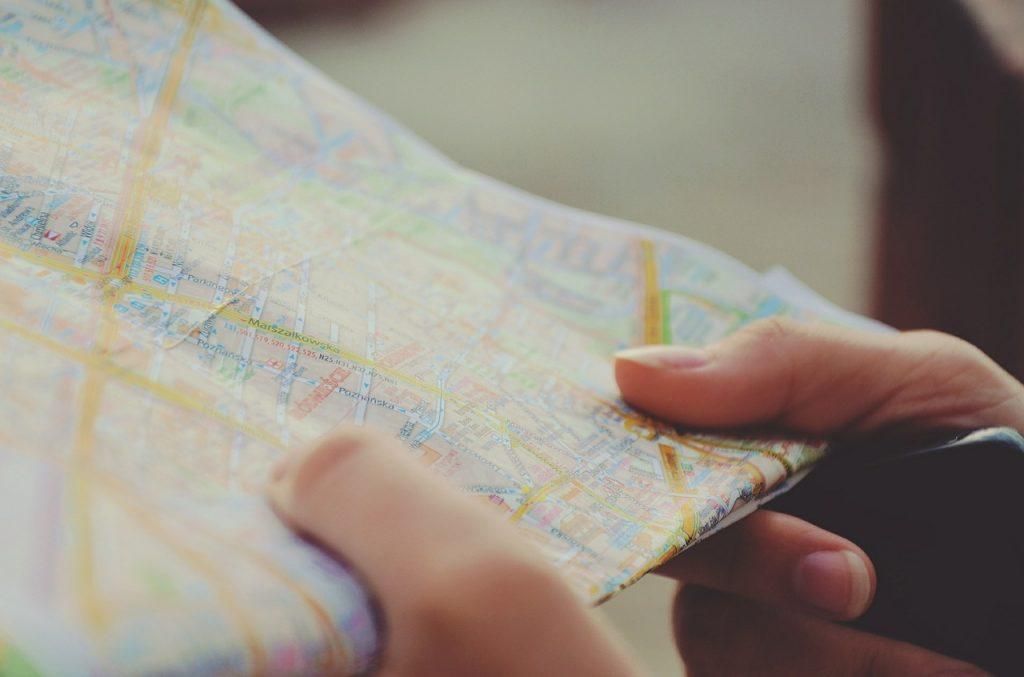 Mapa de las carreteras