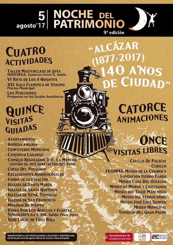 Cartel de la Noche del Patrimonio 2017