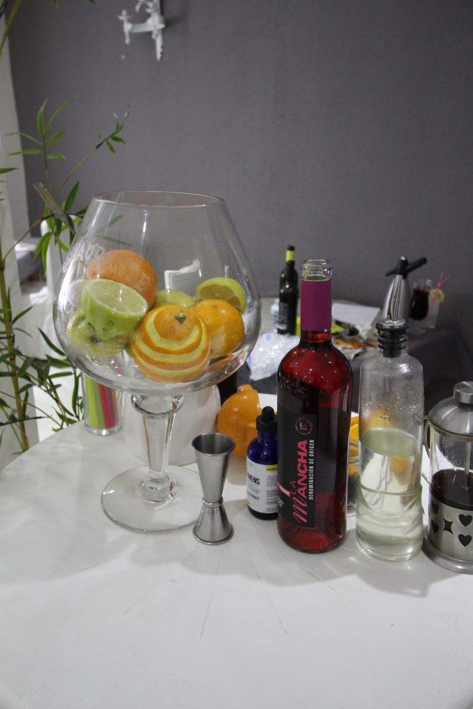 Ingredientes del cóctel puerth rose