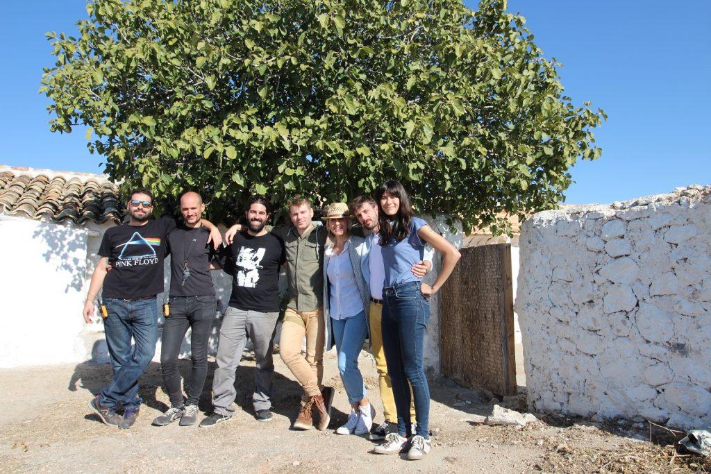 Equipo de rodaje del spot 'Las cosas por su nombre' para los vinos DO La Mancha