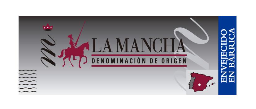 Precinto de calidad vinos envejecidos en barrica DO La Mancha