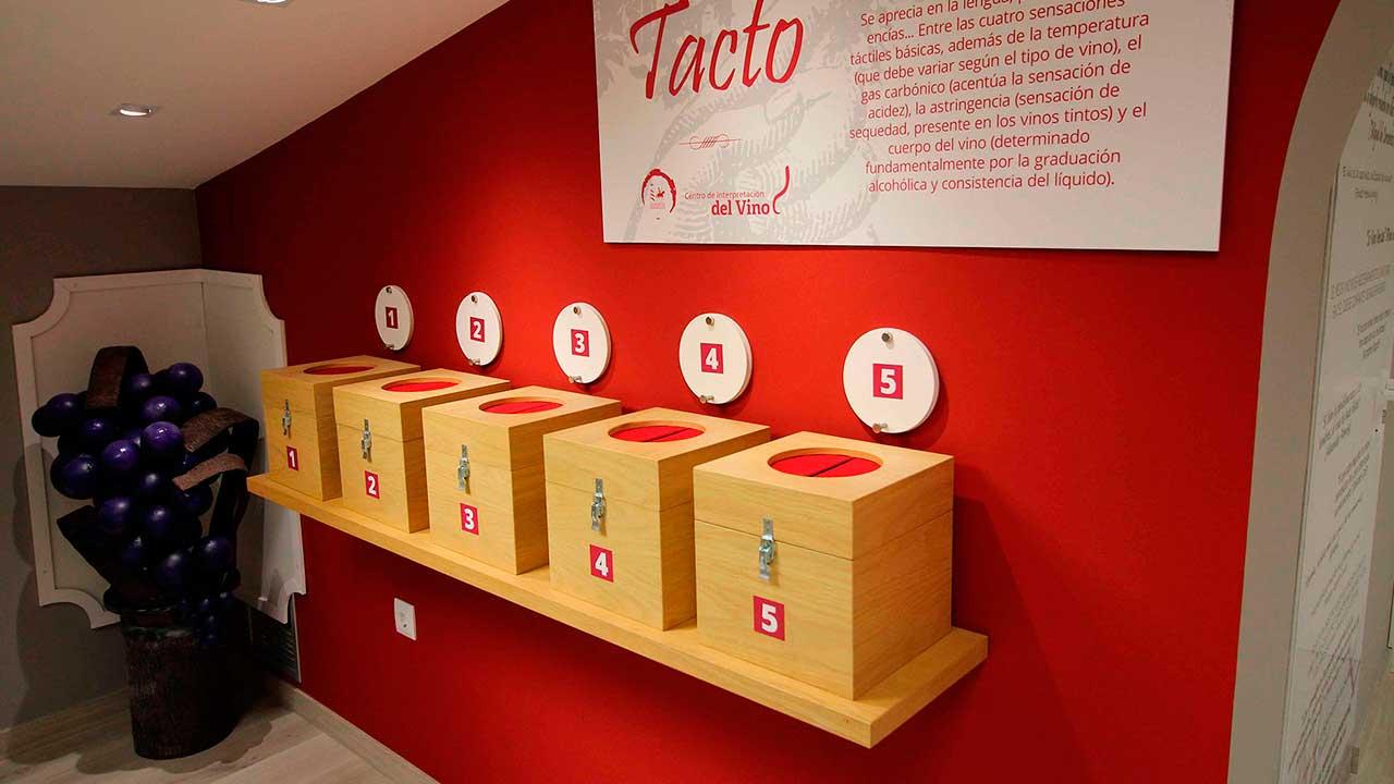 Centro de interpretación del vino - Tacto