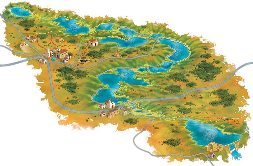 Plano de las Lagunas de Ruidera