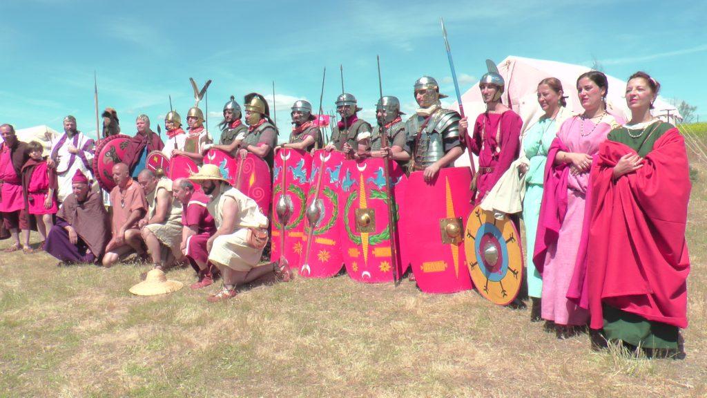 Asociación de Recreación Histórica 'Hispania Romana' y Asociación de Recreación Histórica 'Ad Urbe Condita' en el Parque de Carranque