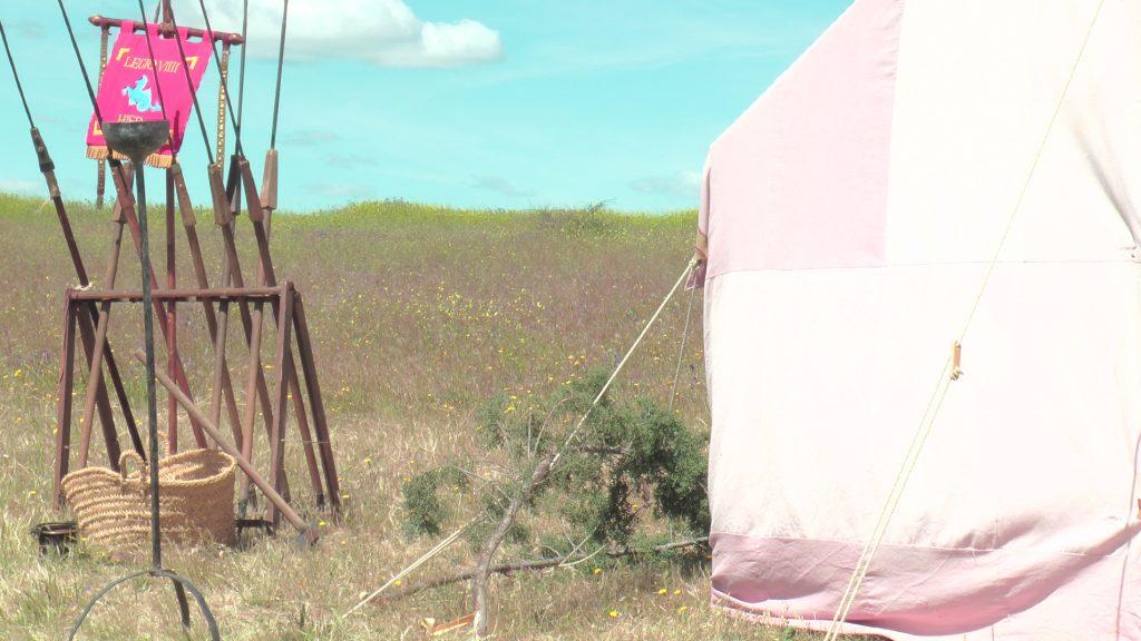 Recreación de un campamento romano