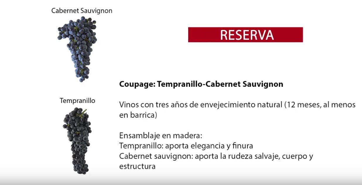 características vino reserva coupage Tempranillo Cabernet Sauvignon de La Mancha