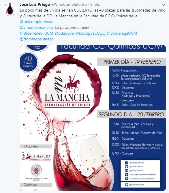 Buena respuesta al maraton del vino UCM