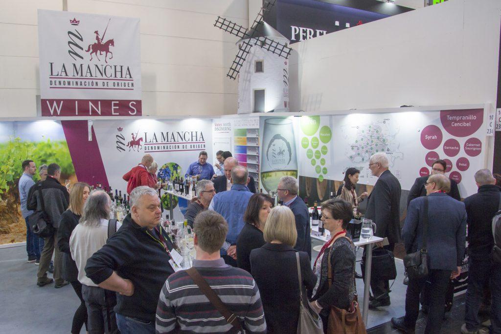 Stand de los vinos DO La Mancha en Prowein