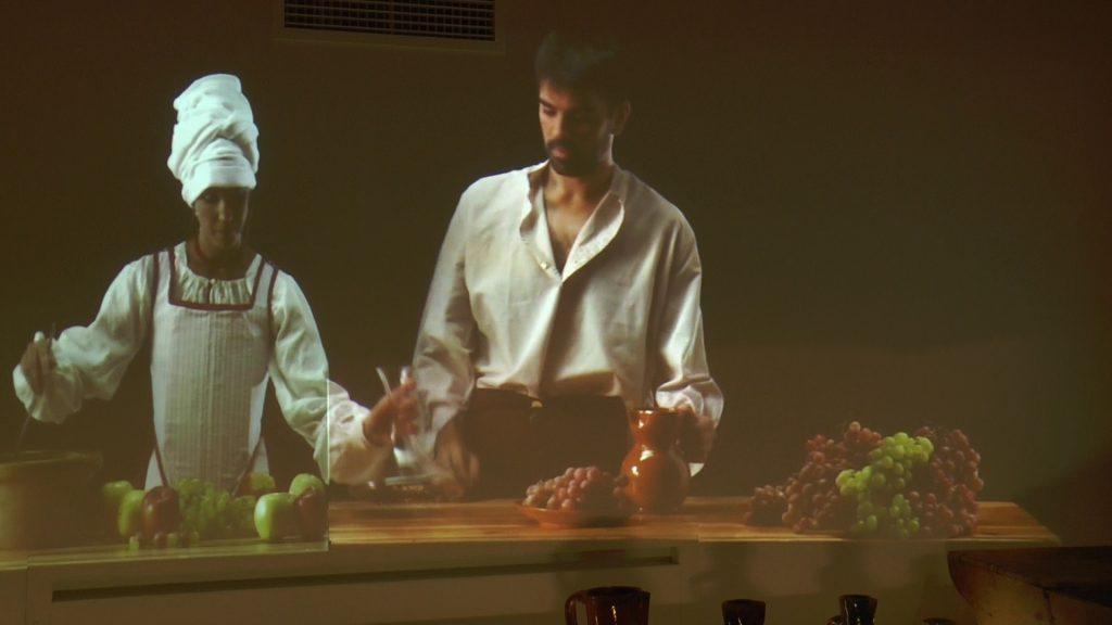 Recreación holográfica de una cocina del siglo XVI. Museo Casa del Hidalgo de Alcázar de San Juan