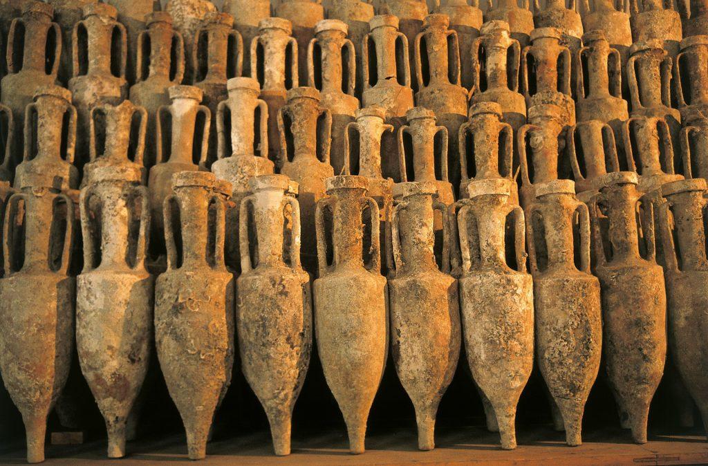 Ánfora de vino en la Antigua Roma
