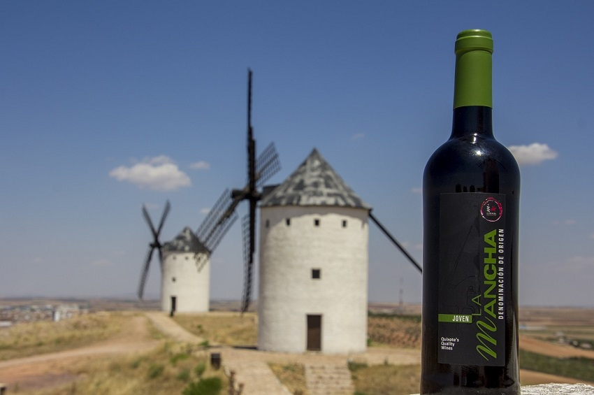 wine and windmills in La Mancha