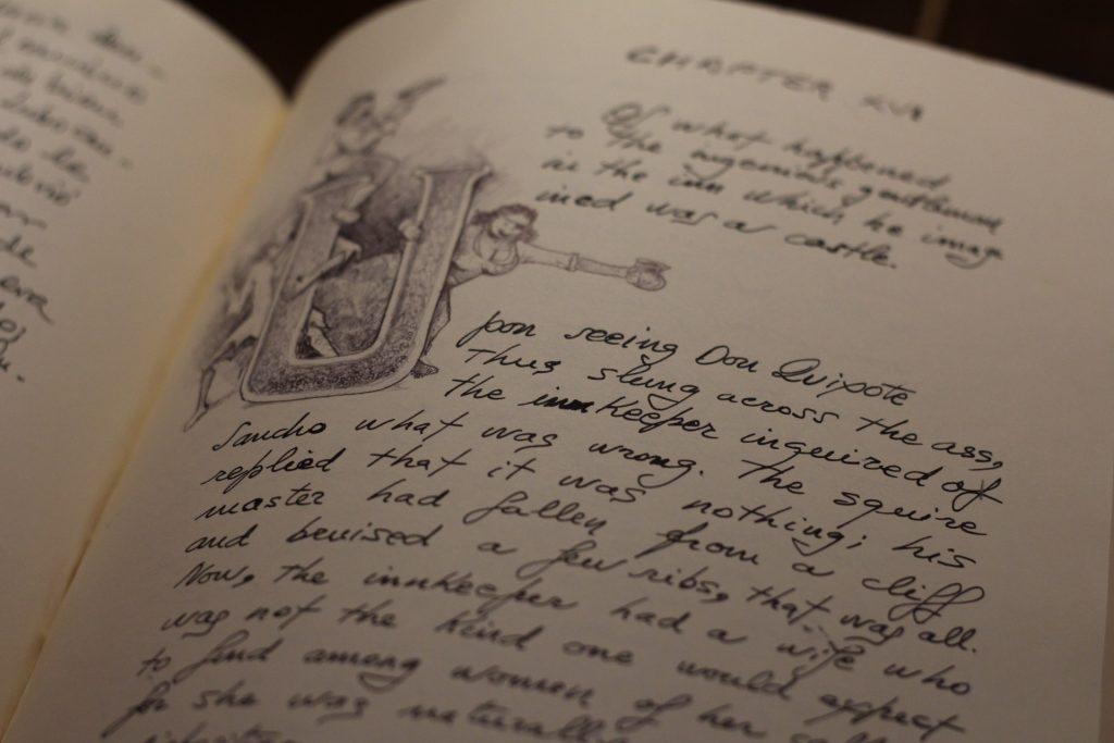 Detalle del Quijote políglota