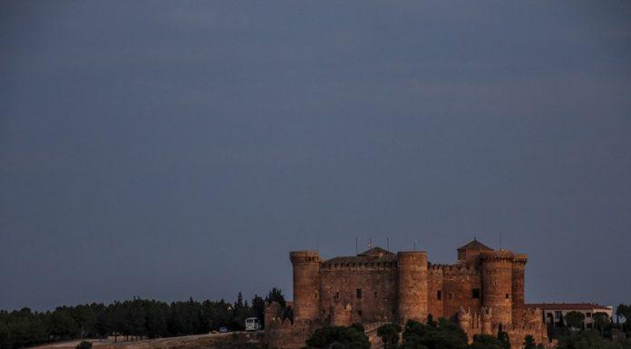 Castillo en Belmonte al atardecer
