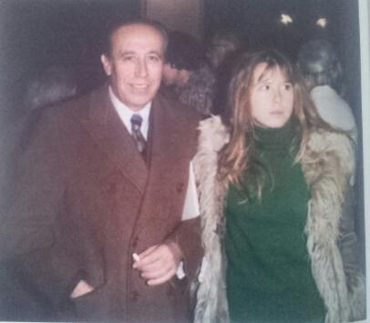 García Pavón con su hija, Sonia G. Soubriet