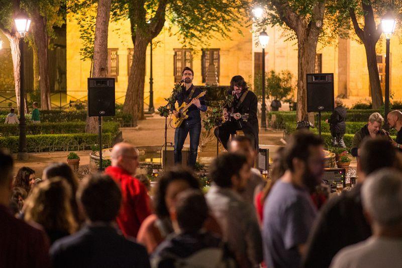 Una de los conciertos de ZepoRock 2018 en las calles de El Toboso. Rodrigo J Torrellas