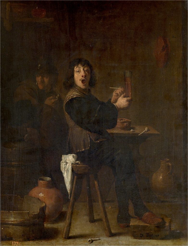 El soldado alegre. David Teniers el Joven. 1631-1640.