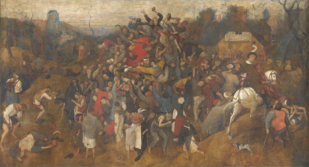 El vino de la fiesta de San Martín. Pieter Brueghel, el viejo. 1566-1567.
