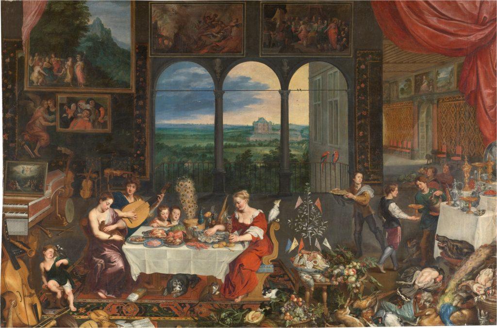 Jan Brughel el Viejo. 'El Gusto, el Oído y el Tacto'. 1620