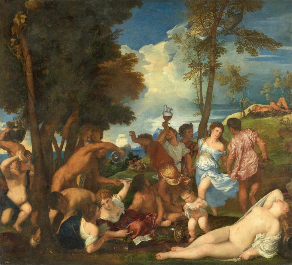 La bacanal de los andrios. Tiziano. 1523 a 1526.