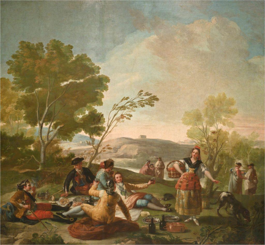 'La merienda'. Goya. 1776.