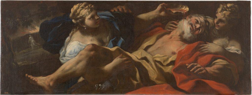 Lot embriagado por sus hijas. Luca Giordano. 1694-1696.