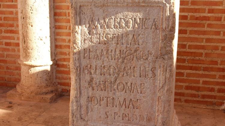 Inscripción latina de la Roma Alto Imperial