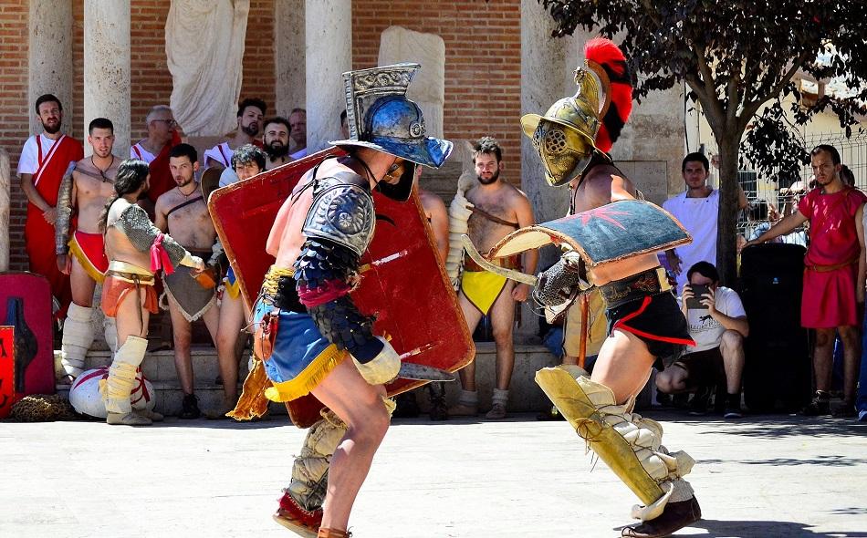 Recreación de luchas gladiadoras en Alhambra. Imagen de Jesús Gómez