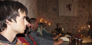 Recreación palaciega de las tropas cristinas Alfonso VI