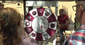 ruleta en la cata tradicional de las fiestas patronales de El Toboso