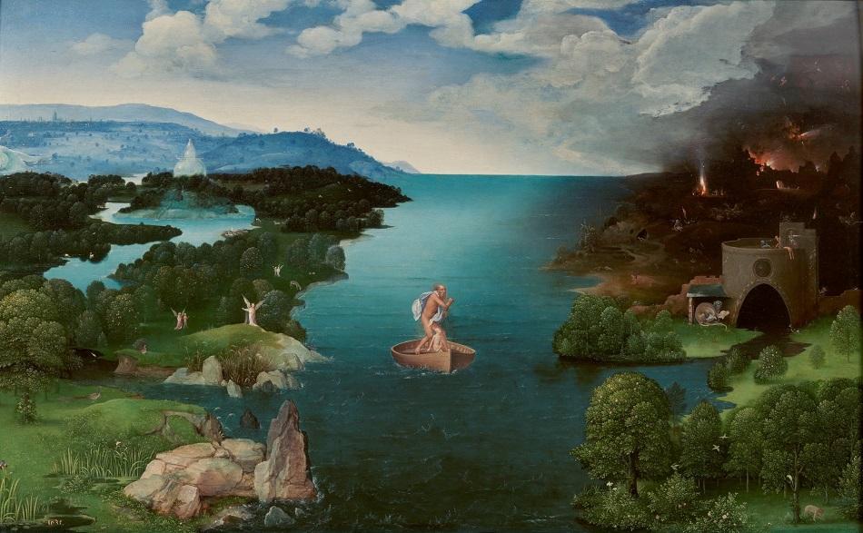 El paso de la laguna Estigia. Patinir. Imagen cedida por el Museo del Prado
