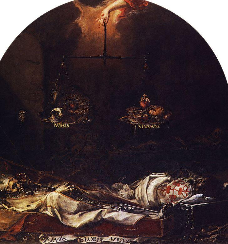 Finis gloriae mundi de Juan Valdes.Iglesia del Hospital de la Caridad