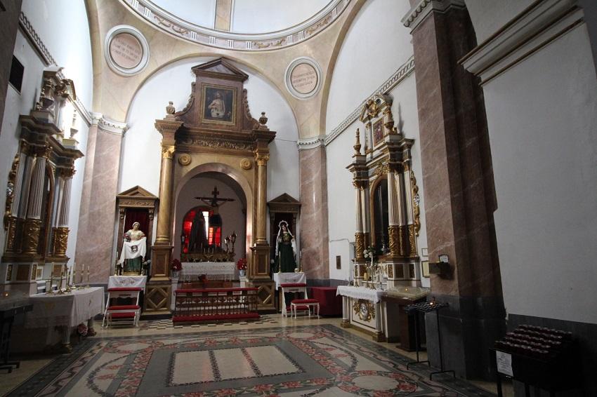 Interior de la Iglesia de Tarazona de La Mancha