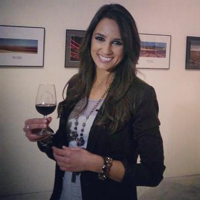Lorena García en una exposición fotográfica en 2013