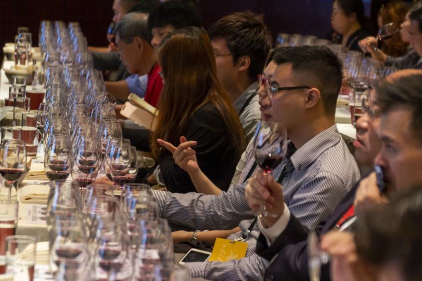 Seminario de cata realizado en Hong Kong