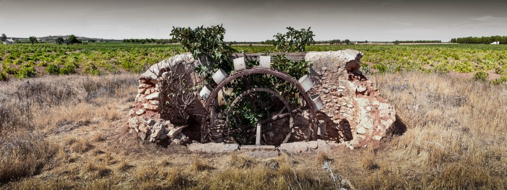 Old waterwheel well in La Mancha.
