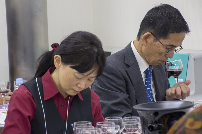 Wine tasting during the last Foodex Japan in 2018