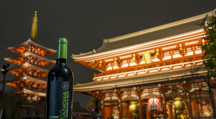 Red Wine from La Mancha in the ancient disctrict of Tokio