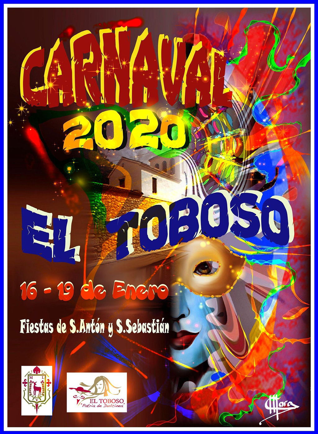 Cartel Carnaval El Toboso 2020