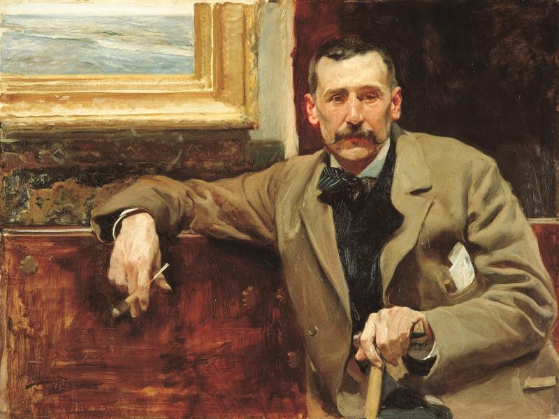 Retrato de Perez Galdos por Joaquín Sorolla en 1894