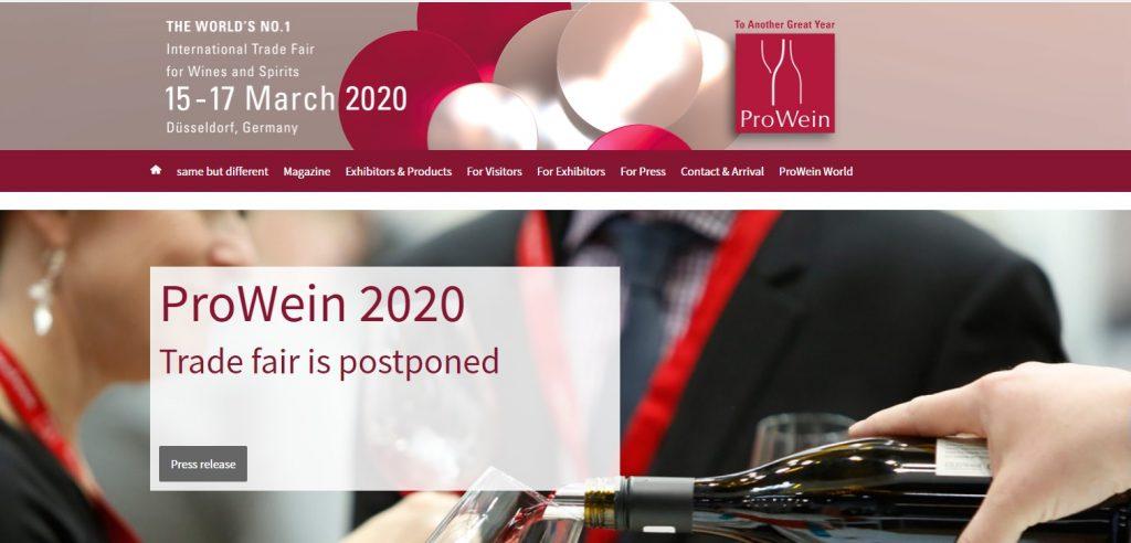 Imagen de Prowein 2020 extraída de la web