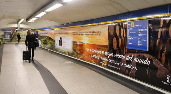 Pasillos del Metro de Madrid en la estación de Sol