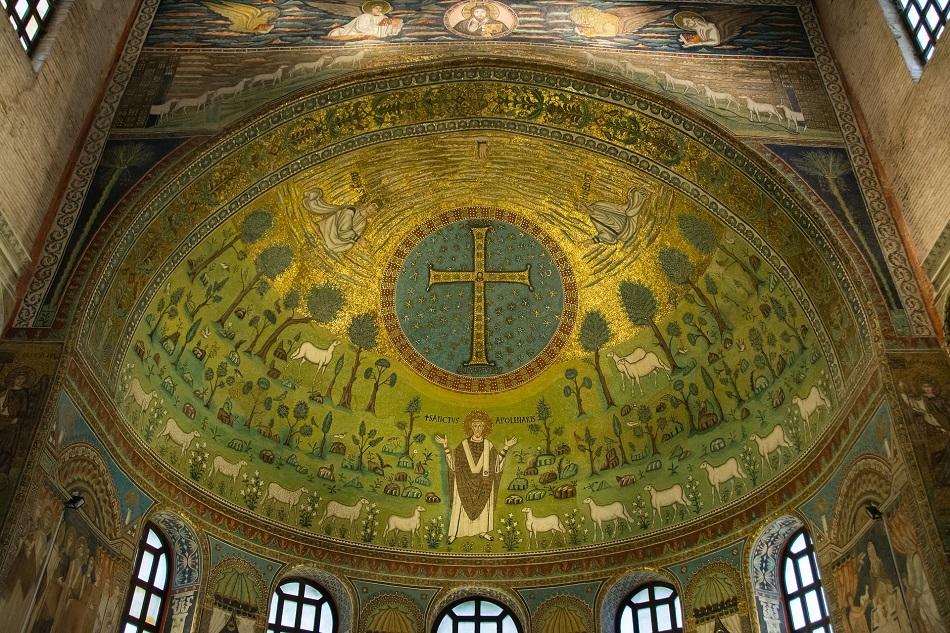 Mosaico bizantino caracterizado por sus toques aúlicos. Imagen de Bogitw en www.pixabay.com