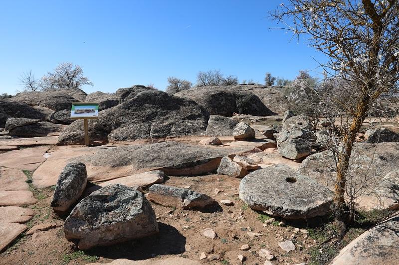 Vista de la zona musealizada en Piédrola