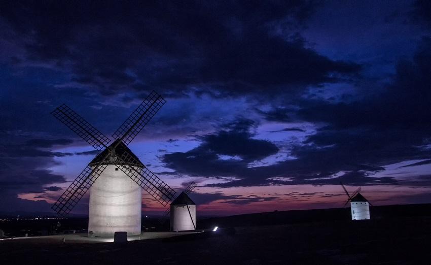 Anochecer en La Mancha