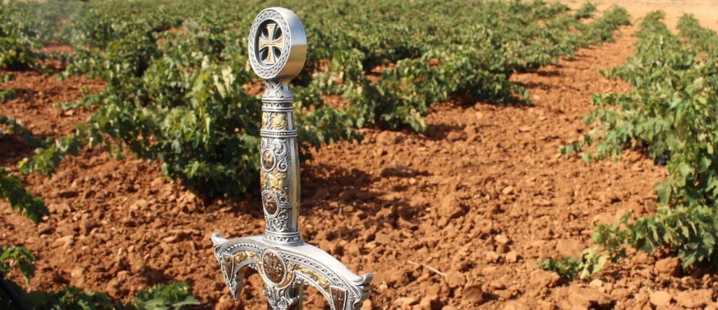 Espada en el viñedo de La Mancha