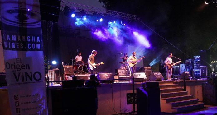Escenario vinos DO La Mancha en el Festival de los Sentidos 2020